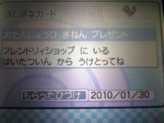 お誕生日ヒトカゲ.JPG